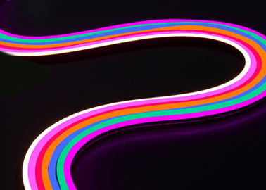 Full Silicone Dome SMD LED Neon Flex Strip Light , Golden Yellow Pink Lemon Yellow